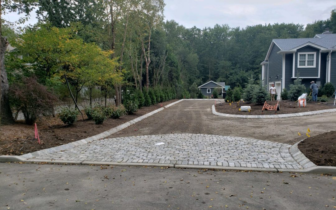New Home Landscaping Construction